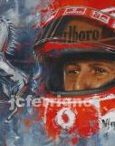 Schumacher helmet portrait