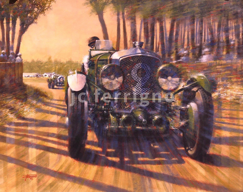 3-Bentley at Le-Mans- 70x55 cm