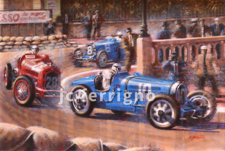 8-1933 Monaco GP-70x48cm