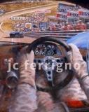 1-Porsche 917 interior at Spa-70x46 cm